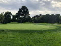 River - side view of 2nd green.