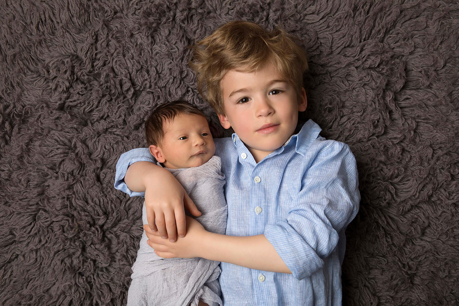 When Siblings Join In On A Studio Newborn Photo Shoot