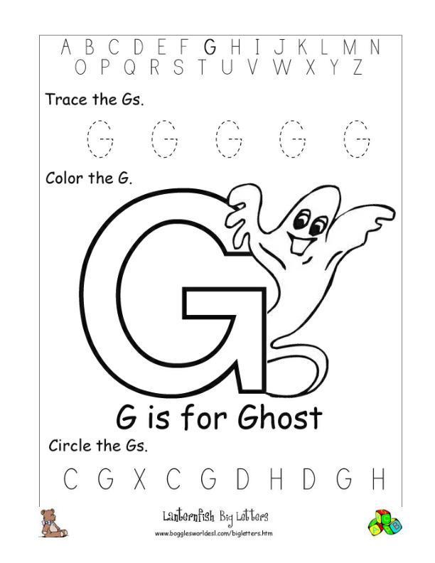 Letter N Alphabet Worksheets
