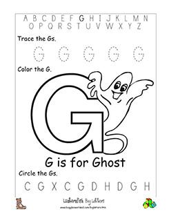 Letter G Alphabet Worksheets