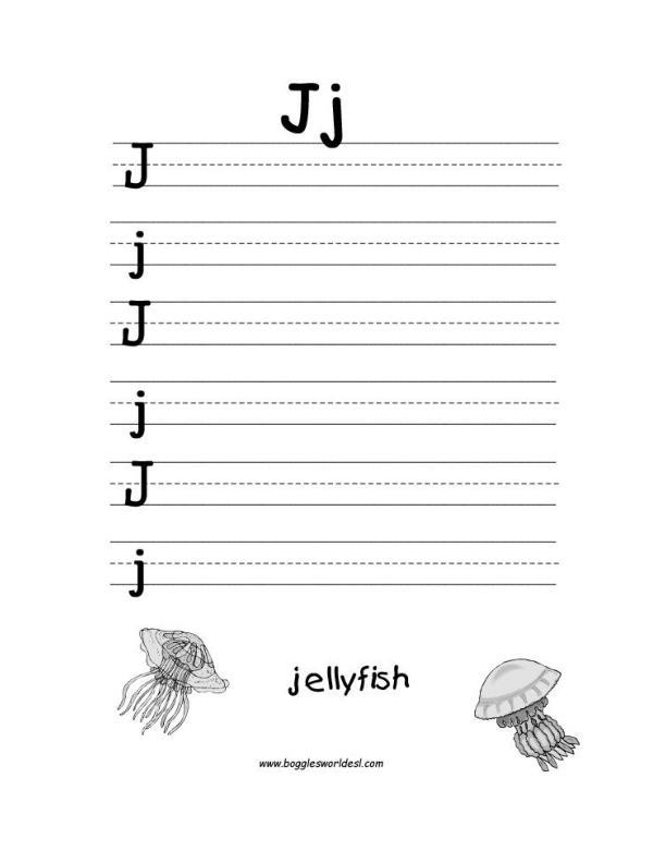 Traceable Letters Worksheets Preschool