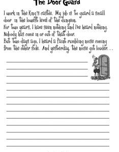 The door guard also esl creative writing worksheets rh bogglesworldesl