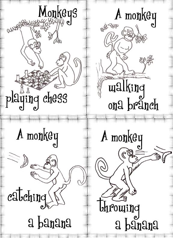 Flashcards: Monkey Cards for ESL