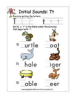 Letter T Alphabet Worksheets