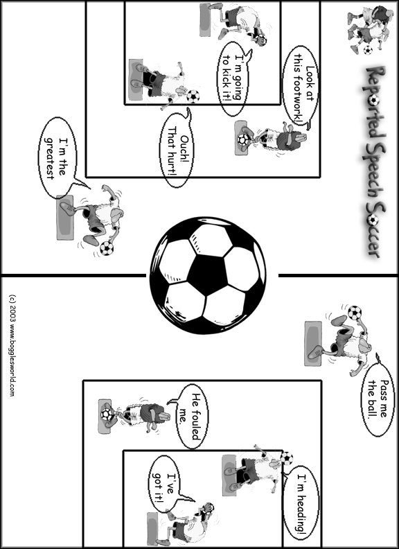 Reported Speech Soccer: Commands, Favors, Advice