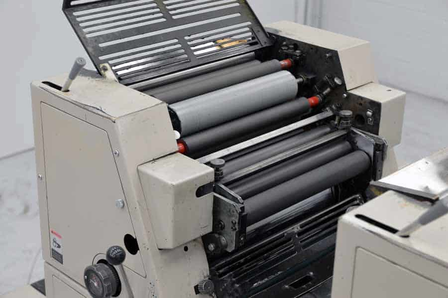 Modern Printing Press Diagram Offset Printing Press Diagram