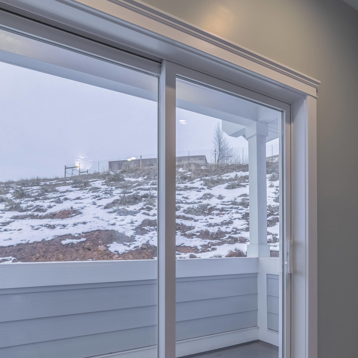 insulate sliding doors for winter