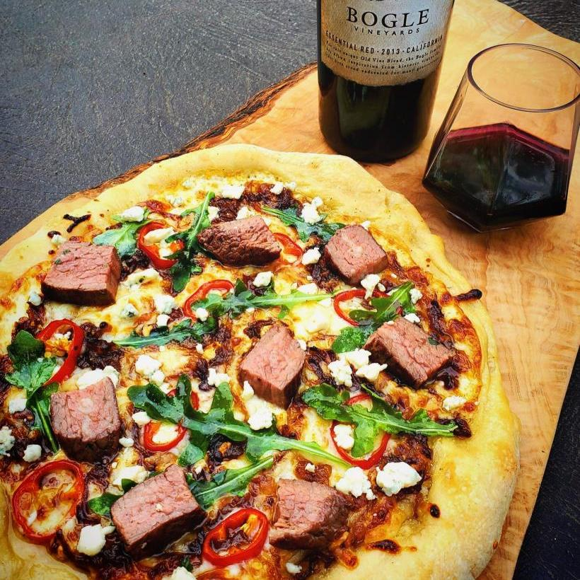 Provolone and Steak Pizza by Jamie H.