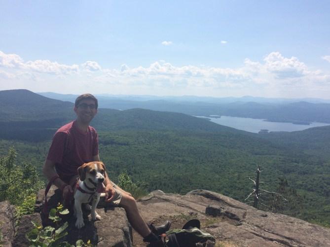 Jeff and Penny enjoying views at the summit!