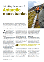 'Unlocking the secrets of Antarctic moss banks' by Matt Amesbury and Jessica Royles