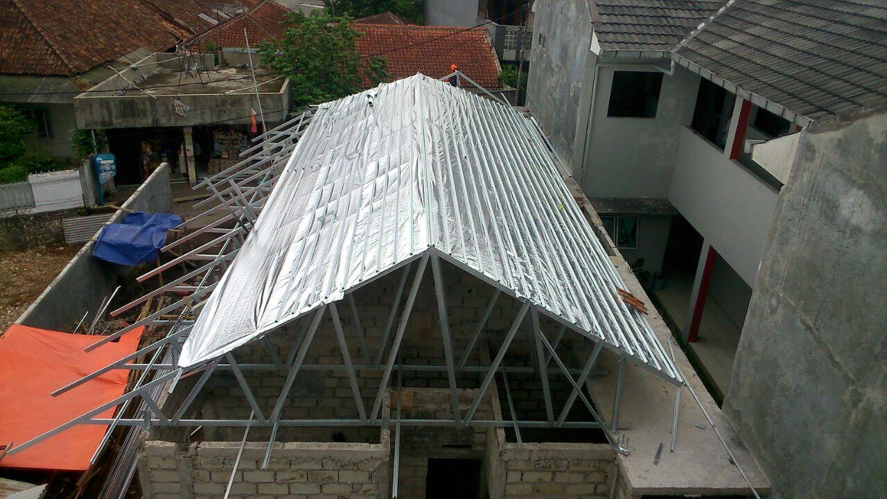 aluminium foil pada baja ringan pemasangan alumunium bogor