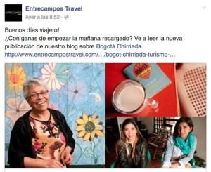 Post sobre Bogotá Chirriada