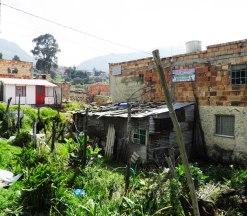 in one of the poorer neighborhoods in Bogota
