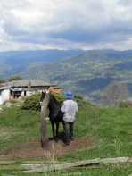 a ranch hand at a working finca outside Bogota