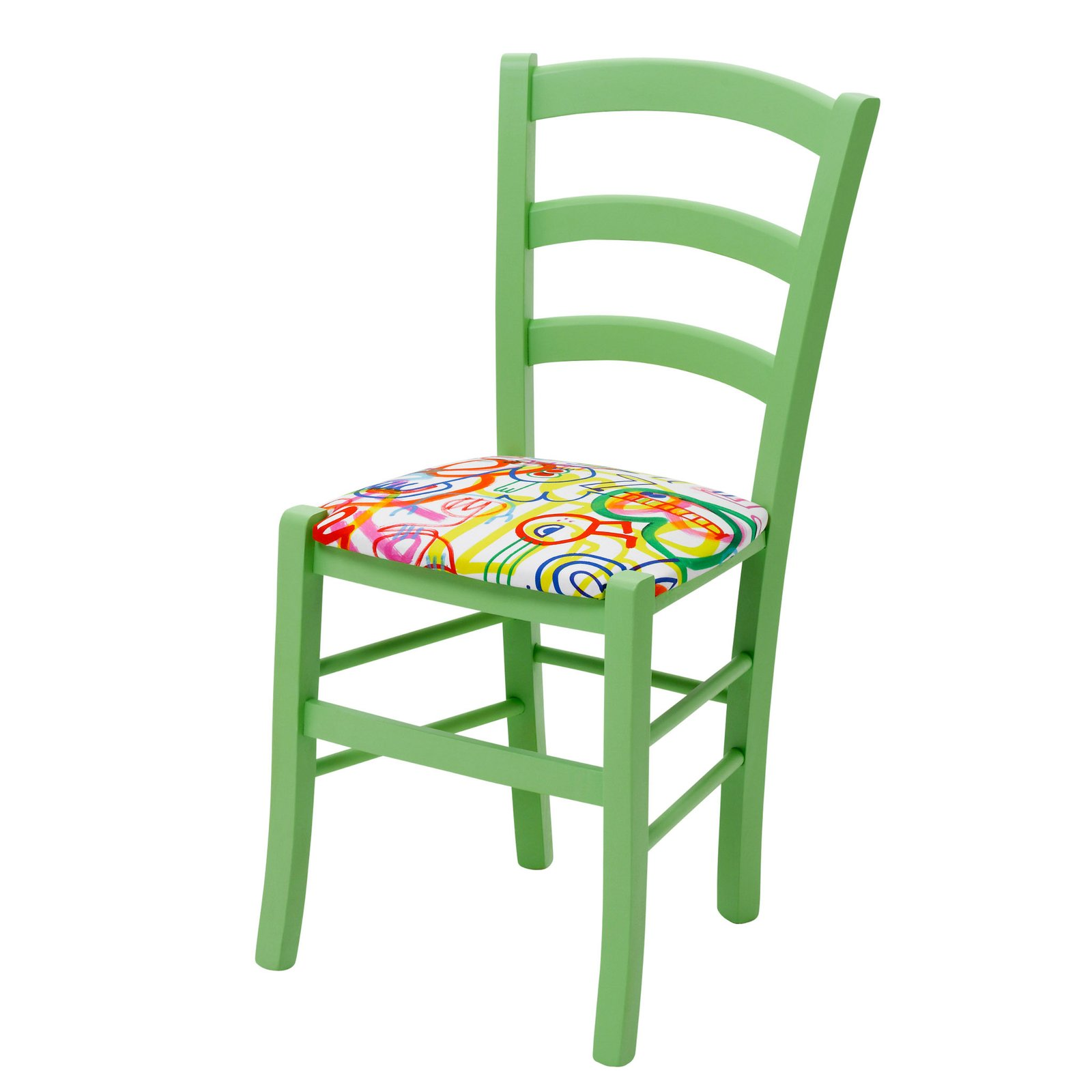 Green Upholstered Chair Green Upholstered Chairs Daisy Kitchen By Cheeky Chairs In Frooty Tooty By Jon Burgerman