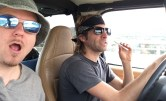 Driving into the desert with my dear friend Scott, from Chicago, who now lives in San Diego