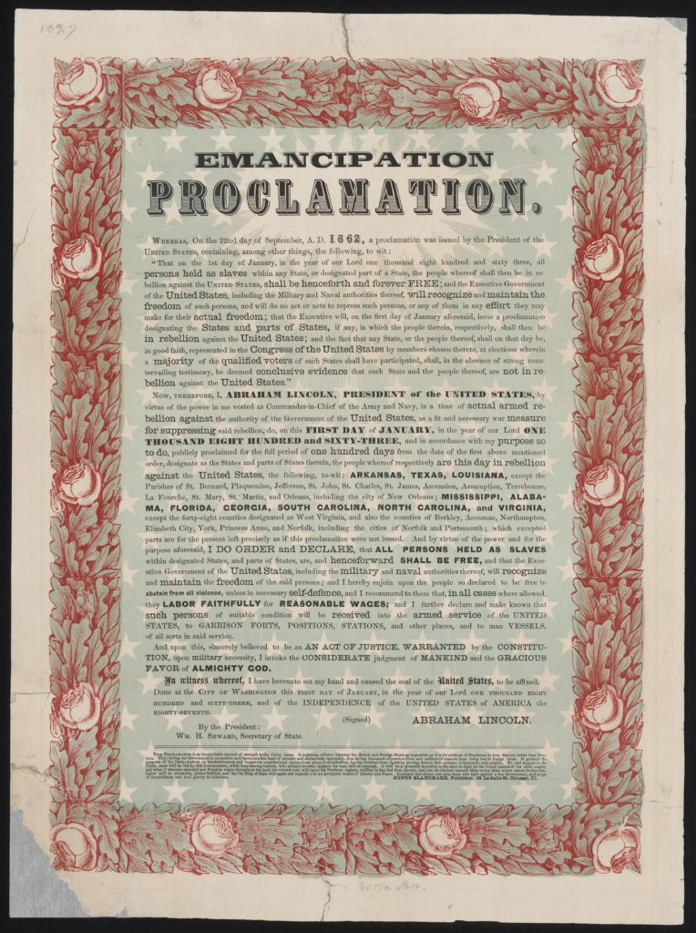 Emancipation Declaration By Abraham Lincoln And Civil War
