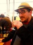 Mathieu enjoying a Cognac