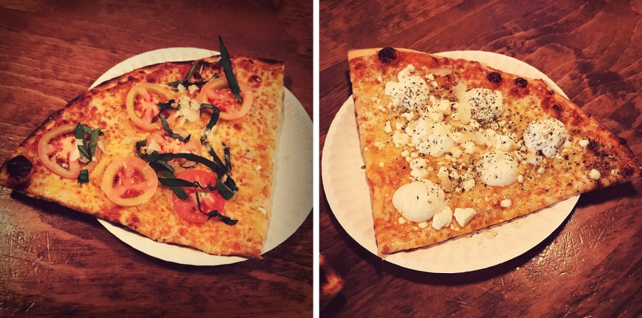 margarita pizza and five cheese pizza at greenville avenue pizza company