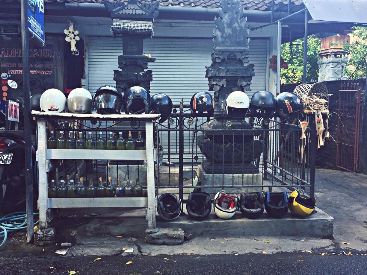 motorcycle helmets in seminyak bali