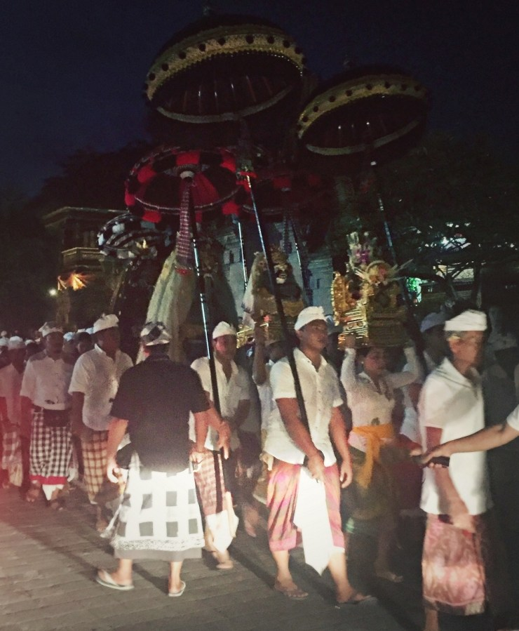 night festival in the streets of ubud bali