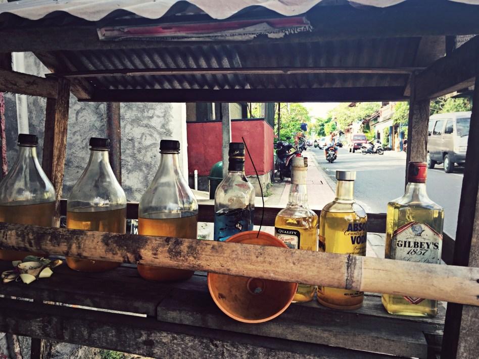 petrol in liquor bottles ubud bali
