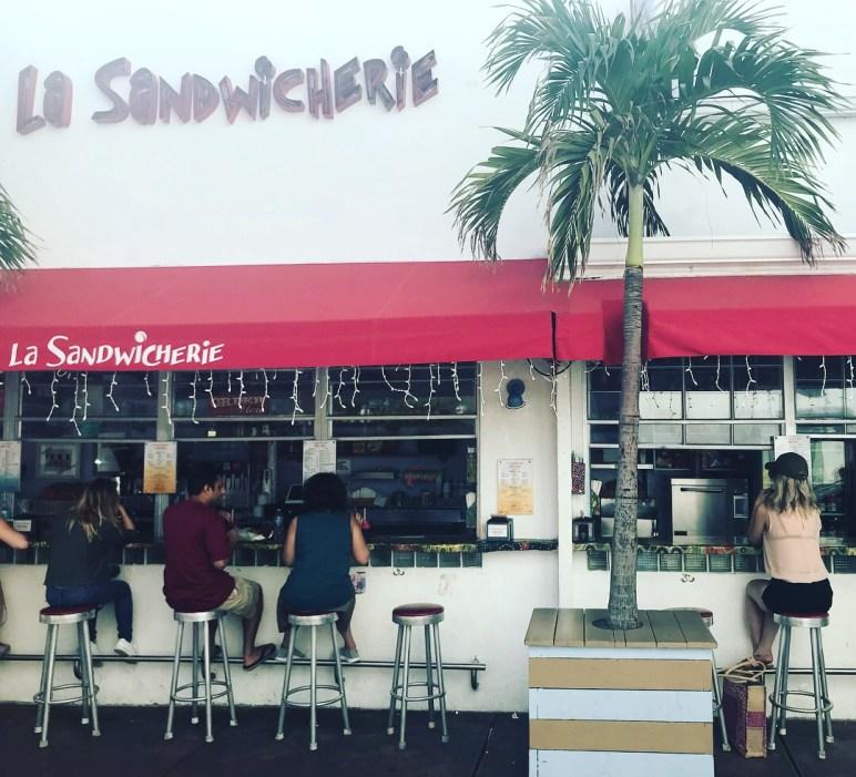 lunch at la sandwicherie south beach miami