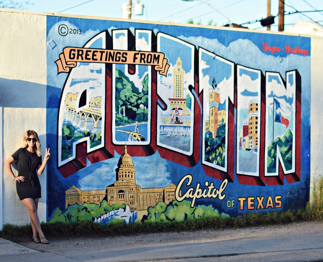Greetings from Austin, TX mural