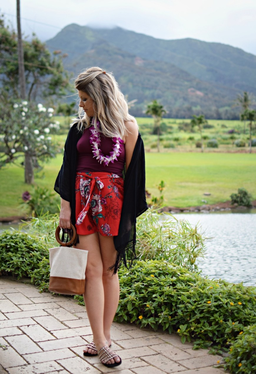 ootd the mill house restaurant maui hawaii babymoon