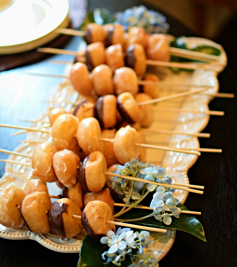 baby shower donut skewers