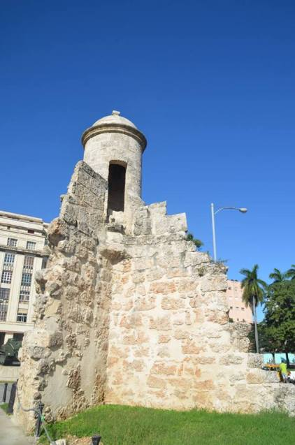 Remains of the old city wall of Havana