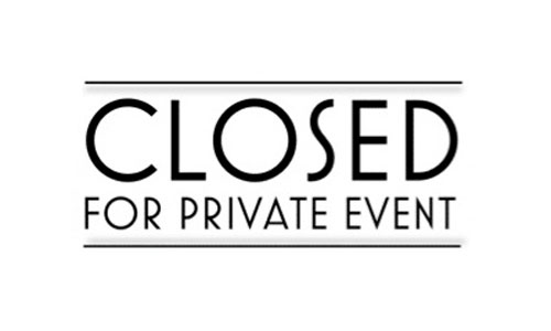 Cellar Cafe Closed from 1-4 pm for Private Event