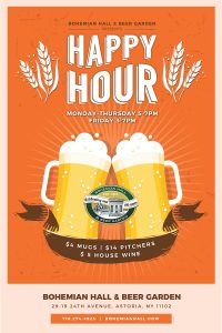 Happy Hour 5-7 pm & 10-11pm 5-7 pm Mon-Fri 10-11pm Mon-Wed Not valid on holidays