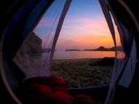 tent sunrise view | Bohemian Moye