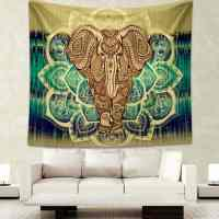 Tapestry Wall Hanging with Elephant Print - Bohemian Pants