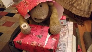 Monkey was wrapping presents