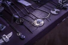 Close up of my jewelry at my booth at the Blue Dome Arts Festival in Tulsa, OK