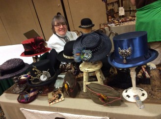My mom in our booth at The World's Steampunk Fair in New Jersey!