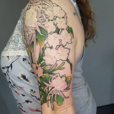 tattoo in progress