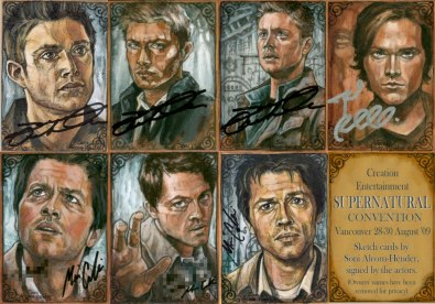 Supernatural originals by Soni Alcorn-Hender, signed by the cast