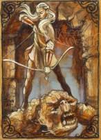 Legolas and cave troll by Soni Alcorn-Hender