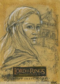 'The men have found their Captain... Topps Lord of the Rings LotR Masterpieces 2 sketch card by Soni Alcorn-Hender