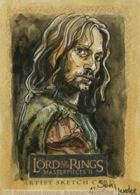 'These are no soldiers.' Topps Lord of the Rings LotR Masterpieces 2 sketch card by Soni Alcorn-Hender