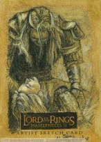 'Death, death, death!' Topps Lord of the Rings LotR Masterpieces 2 sketch card by Soni Alcorn-Hender