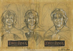 "'I will not say ""do not weep"".. Topps Lord of the Rings LotR Masterpieces 2 sketch card by Soni Alcorn-Hender"