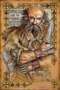 Hobbit Illumination: Dwalin, by Soni Alcorn-Hender.