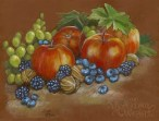 Fall still-life with apples and berries, by Soni Alcorn-Hender