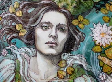 Frog Prince painting (excerpt), Soni Alcorn-Hender