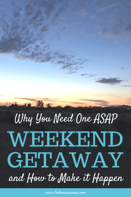 Why you need a weekend getaway ASAP and how to make it happen. How taking a break and relaxing will recharge your batteries and make you a better mom. Click to learn more.
