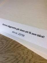 Umeå Golvcenter erbjuder även de populära mattorna som bård. Tummen upp för dem!
